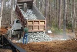 Транспортировка грунтовых строительных материалов